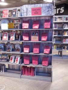 Blind date book shelf