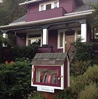 Little Free Library in Seattle's Madrona neighborhood.