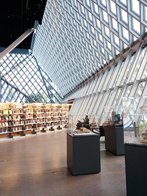 5th Ave entrance to Seattle Central Library