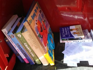 Inside of Little Free Library