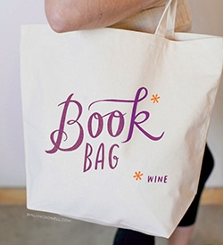 Book Wine Bag by Emily Mcdowell