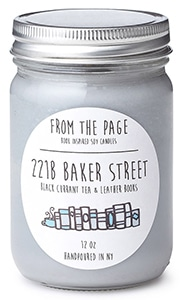 221B Baker Street Literary Candle