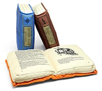 Old book pillows