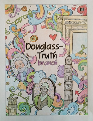 Douglass-Truth coloring page from the Seattle Public Library