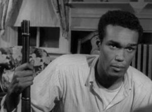 Duane Jones as Ben in the original, 1968 Night of the Living Dead.
